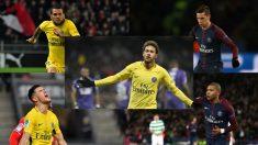 Neymar, Alves, Yuri, Draxler y Mbappé, los cinco jugadores del PSG que pudieron fichar por el Real Madrid.