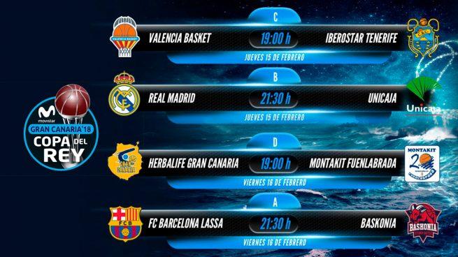 Copa del Rey: partidos, resultados, horarios y dónde ver los partidos de baloncesto hoy