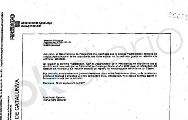 La Guardia Civil dictamina que la Generalitat tenía una contabilidad B para el 1-O