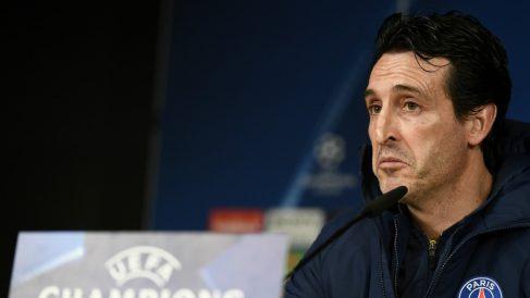Emery comparece en rueda de prensa. (AFP)