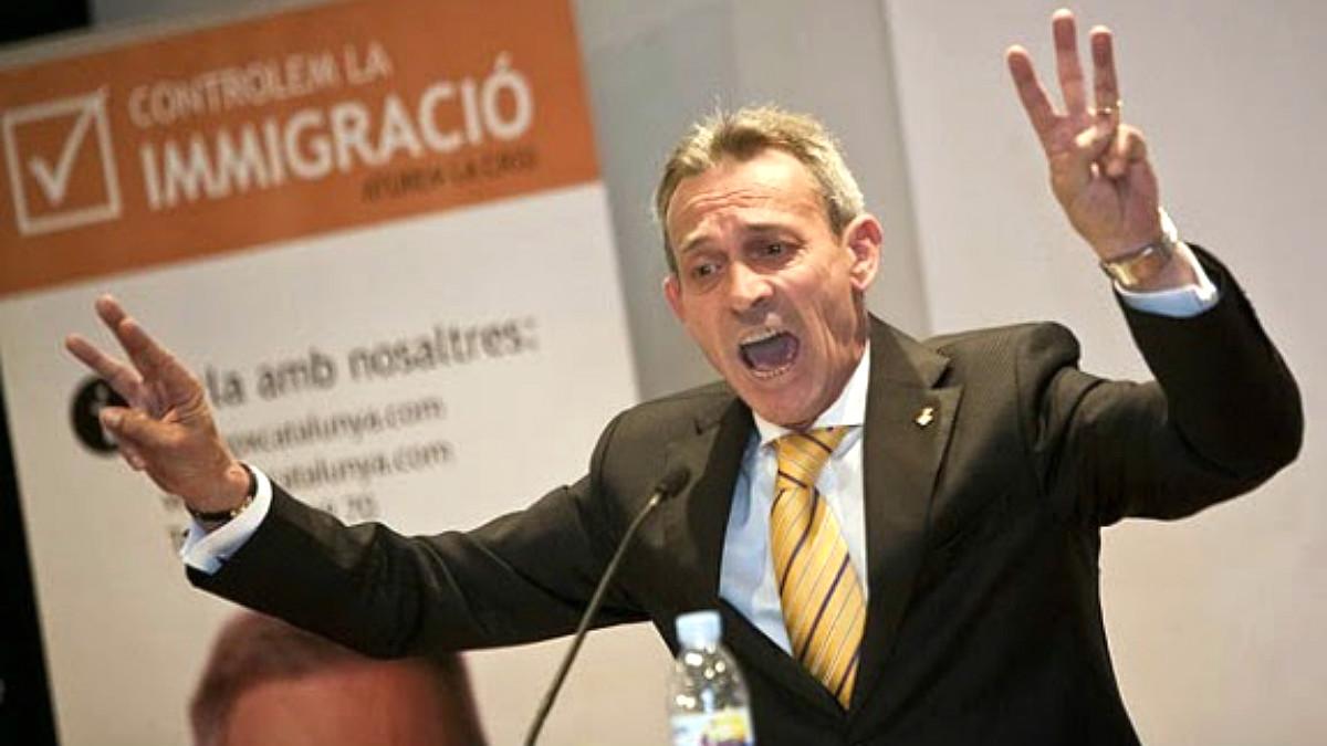 El  ex líder de la xenófoba Plataforma per Catalunya, Josep Anglada.