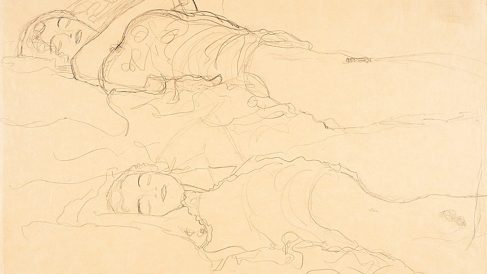 'Dos mujeres acostadas', de Gustav Klimt.