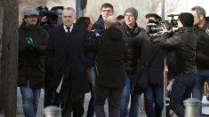 Luis Bárcenas, a su llegada al juicio  de la Gürtel valenciana, en la Audiencia Nacional. (EFE)