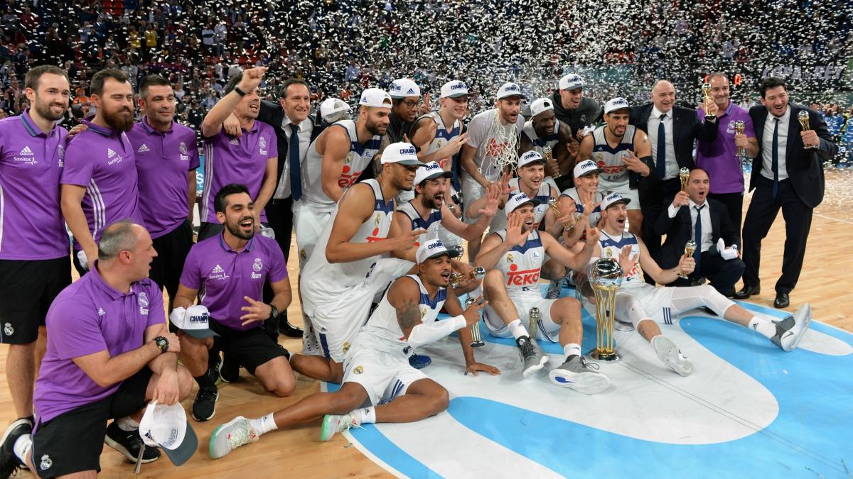 El Madrid celebra el título de la Copa del Rey. (Getty)
