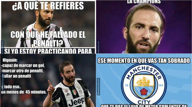 Los memes de la Champions se ceban con Higuaín