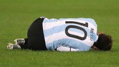 Messi durante un partido con Argentina. (Getty)
