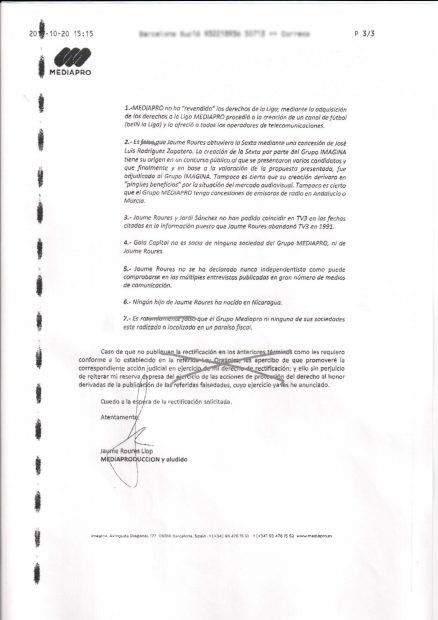 Roures fundó la offshore MediaPro Inc. en Panamá en medio del escándalo de los sobornos de la FIFA