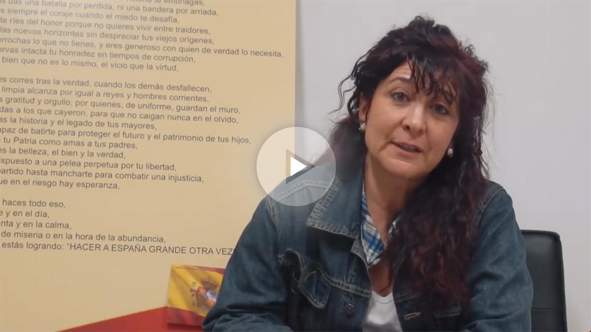 El vídeo que ha difundido la vicesecretaria de Movilización de VOX, Alicia Rubio.