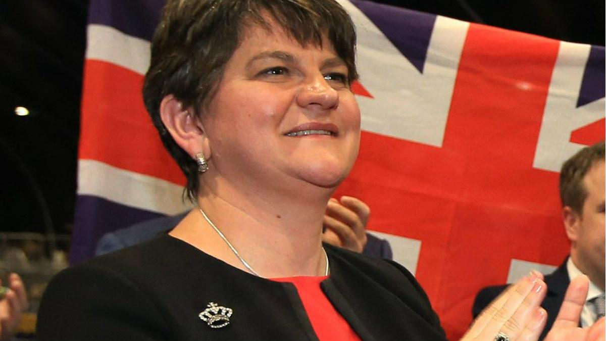 La unionista Arlene Foster (DUP), ministra principal del Ulster en funciones.