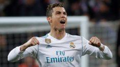 Cristiano Ronaldo celebra su gol ante el PSG (EFE).