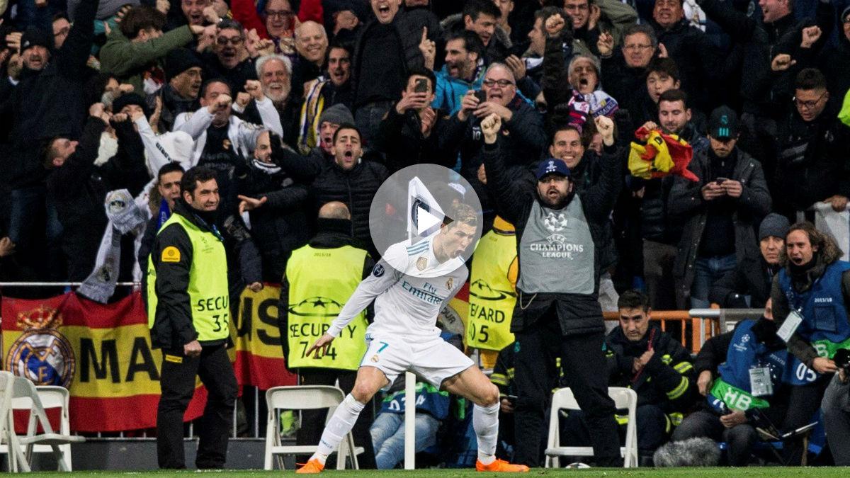 Cristiano Ronaldo celebra uno de sus goles frente al PSG. (EFE)