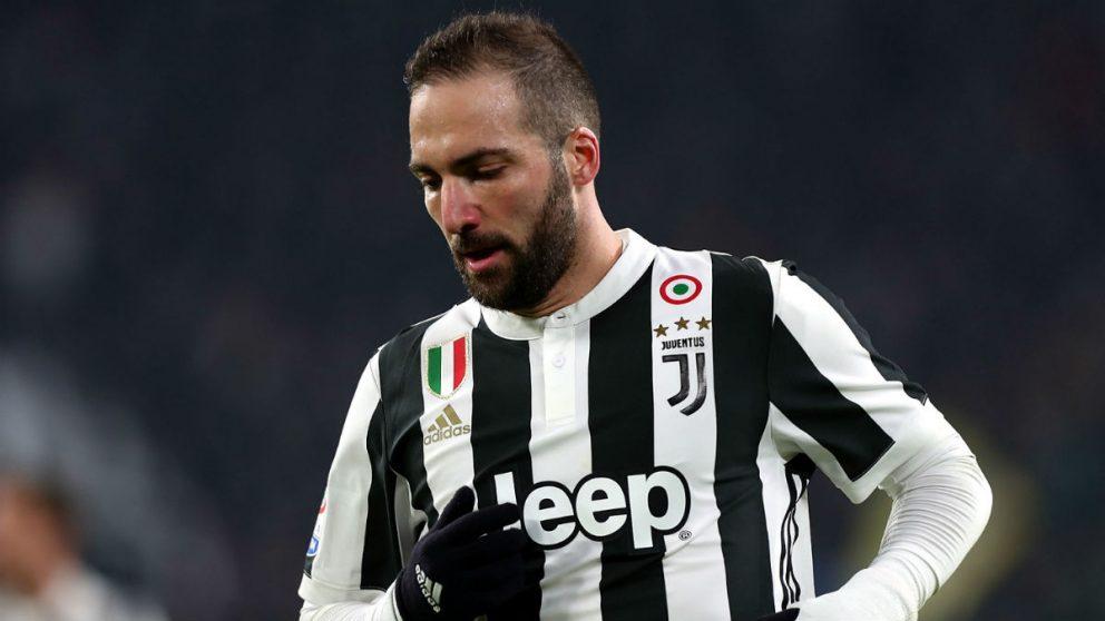 Gonzalo Higuaín, durante un partido con la Juventus. (Getty)