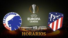 Consulta aquí a qué hora se juega el Copenhage – Atlético de Madrid y dónde ver el partido de la Europa League
