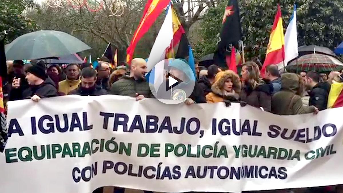 Manifestación de Jusapol en Santiago de Compostel
