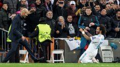 Marcelo celebra su gol con Zidane. (EFE) | Real Madrid – Bayern | Champions League 2018