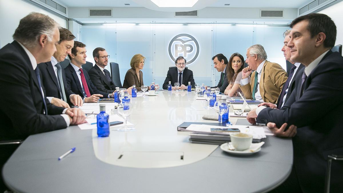 Comité de Dirección del PP. (Foto: EFE) | Moción de censura Rajoy