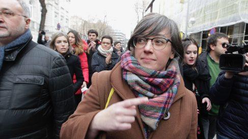 Mireia Boya a su entrada para declarar en el Tribunal Supremo. (Foto: Francisco Toledo)