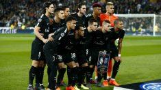 La alineación del PSG en el Bernabéu. (Getty)