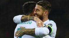 Sergio Ramos y Cristiano Ronaldo celebran un gol en la Champions.