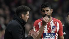 Simeone y Diego Costa. (AFP)