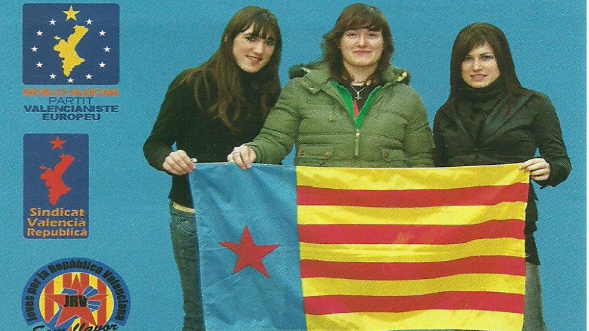 Cartel acto independentista Universidad de Valencia