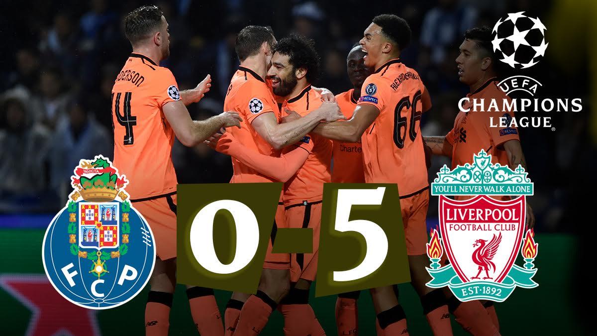 El Liverpool celebra la victoria ante el Oporto.