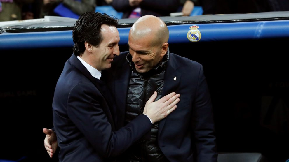 Emery y Zidane, antes del Real Madrid – PSG.