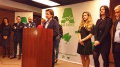 Miembros de Actúa, el nuevo partido surgido en Islas Baleares para contrarrestar la imposición nacionalista de Francina Armengol en la región