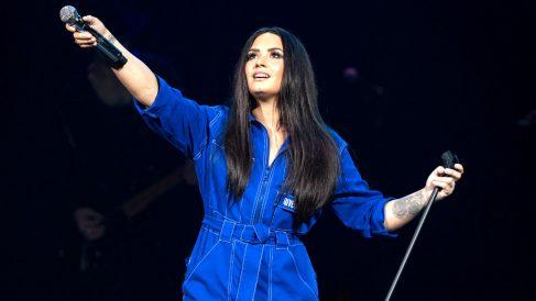 Demi Lovato en una reciente imagen (Foto: AFP).