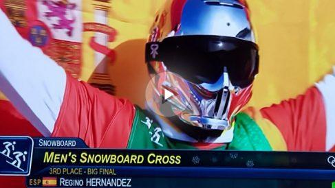 Regino Hernández, bronce en los Juegos Olímpicos de Invierno 2018.