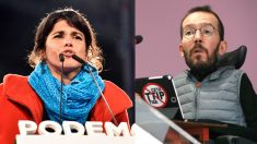 Teresa Rodríguez y Pablo Echenique.