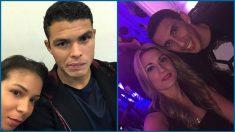 Thiago Silva y Di María, junto a sus mujeres. (Instagram)