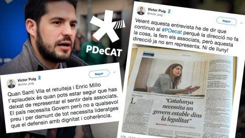Víctor Puig y sus tuits de este jueves.