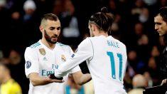 Bale, entrando por Benzema ante el PSG (EFE).