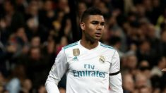 Casemiro, durante un partido del Real Madrid, esta temporada (Getty).
