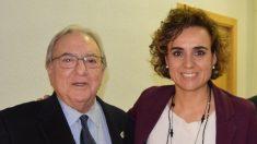 El presidente de A.M.A., Diego y la ministra de Sanidad, Dolors Monserrat.