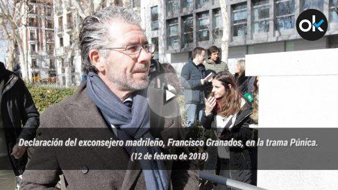 Declaración del exconsejero madrileño, Francisco Granados, en la trama Púnica. 12-02-18