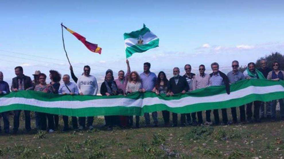 Iniciativa Andalucista  contra el 155 (Foto:Facebook)