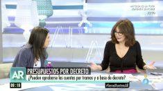 Irene Montero en 'El programa de Ana Rosa'.
