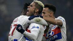 Mariano celebra un gol contra el Lyon. (AFP)