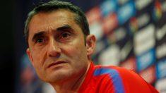 Valverde comparece en sala de prensa en la previa del choque contra el Eibar. (EFE)