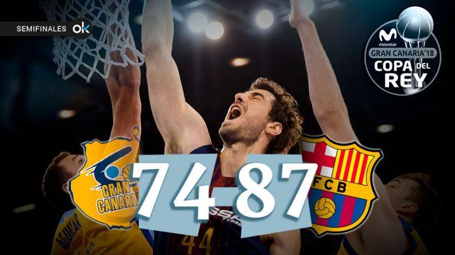 El Barça acaba con el sueño del Gran Canaria y habrá Clásico en la final