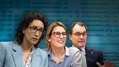 Marta Rovira, Elsa Artadi y Artur Mas.