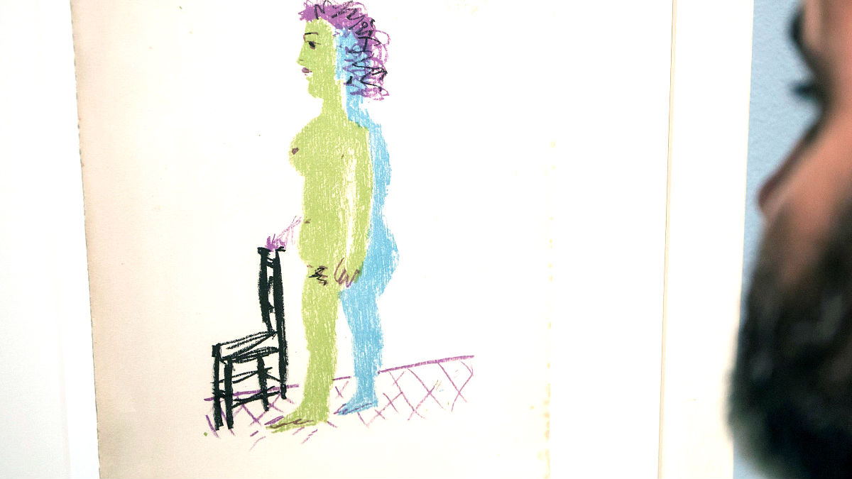 Obra de Picasso en una exposición (Foto: Efe).