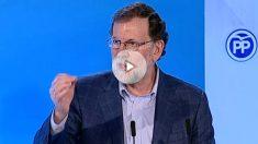 Mariano Rajoy, presidente del PP y del Gobierno.