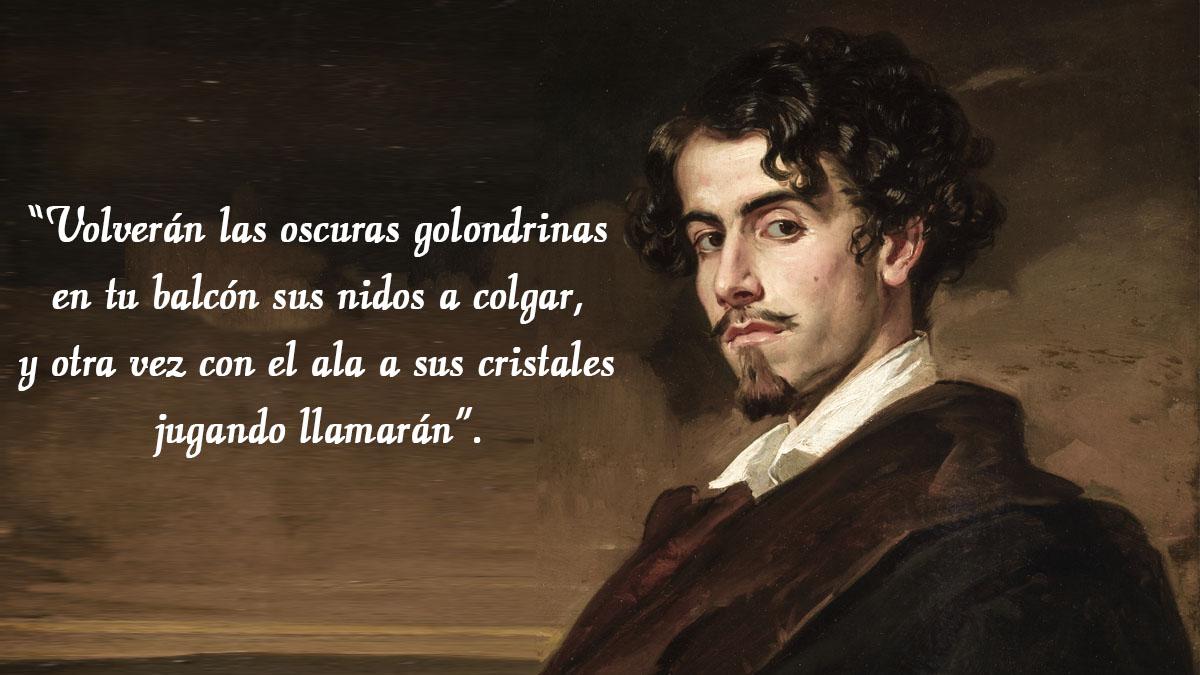 Celebramos el 182º aniversario del nacimiento de Gustavo Adolfo Bécquer recopilando cinco de sus rimas más populares.