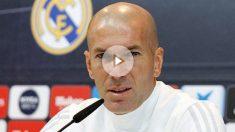 Zinedine Zidane, durante una rueda de prensa. (Realmadrid.com)