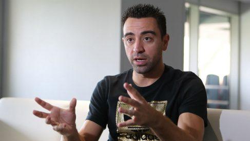 Xavi Hernández, durante una entrevista en Qatar. (AFP)