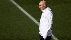 Zidane durante un entrenamiento del Real Madrid. (EFE)