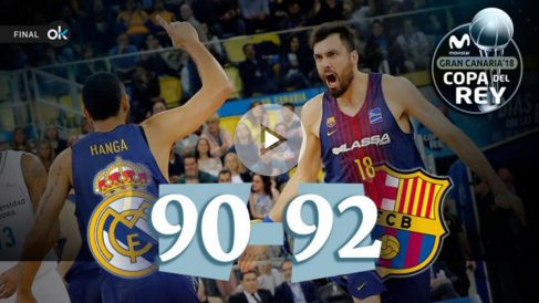 El Barça vence en la final de la Copa del Rey de Baloncesto 2018.